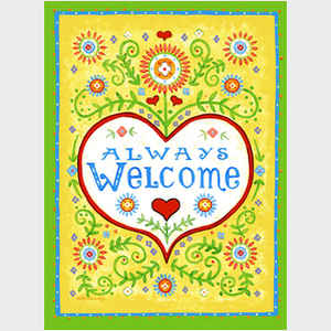 Always Welcome - with border