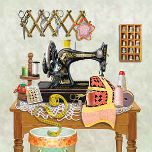 Antique Sewing Room - Lime