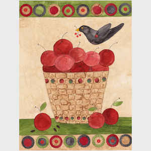 Apple Basket and Crow