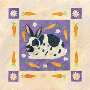 Bunny and Carrots tile