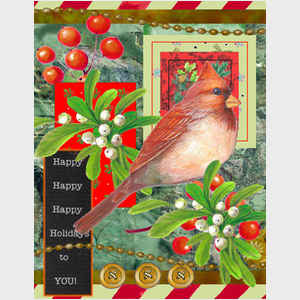 Cardinal Greeting Collage
