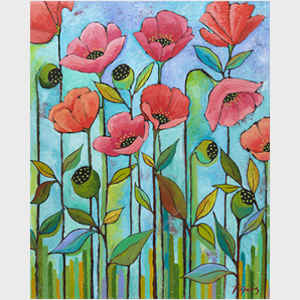 Coral Poppies