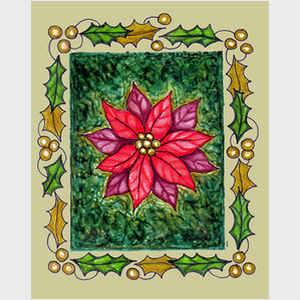 Framed Poinsettia