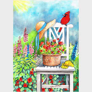 Gardener's Patch with Cardinal