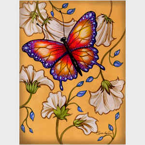 Gold-Purple Butterfly