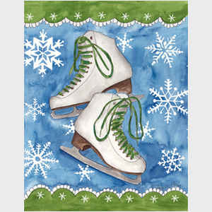 Ice Skates and Snowflakes