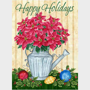 Poinsettia and Bulbs