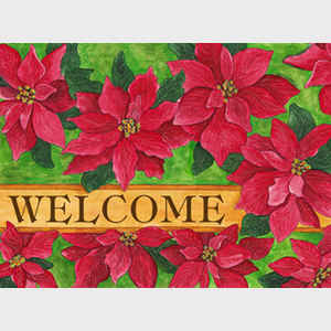 Poinsettia Welcome horizontal