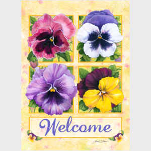 Pretty Pansies Welcome