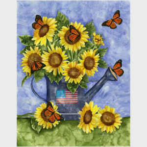 Sunflower Watering Can I