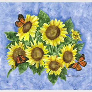 Sunflowers and Monarchs